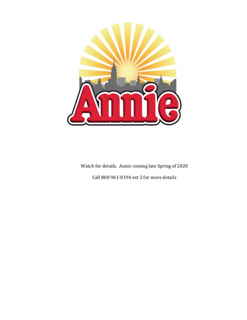 Annie coming soon Valley 2020
