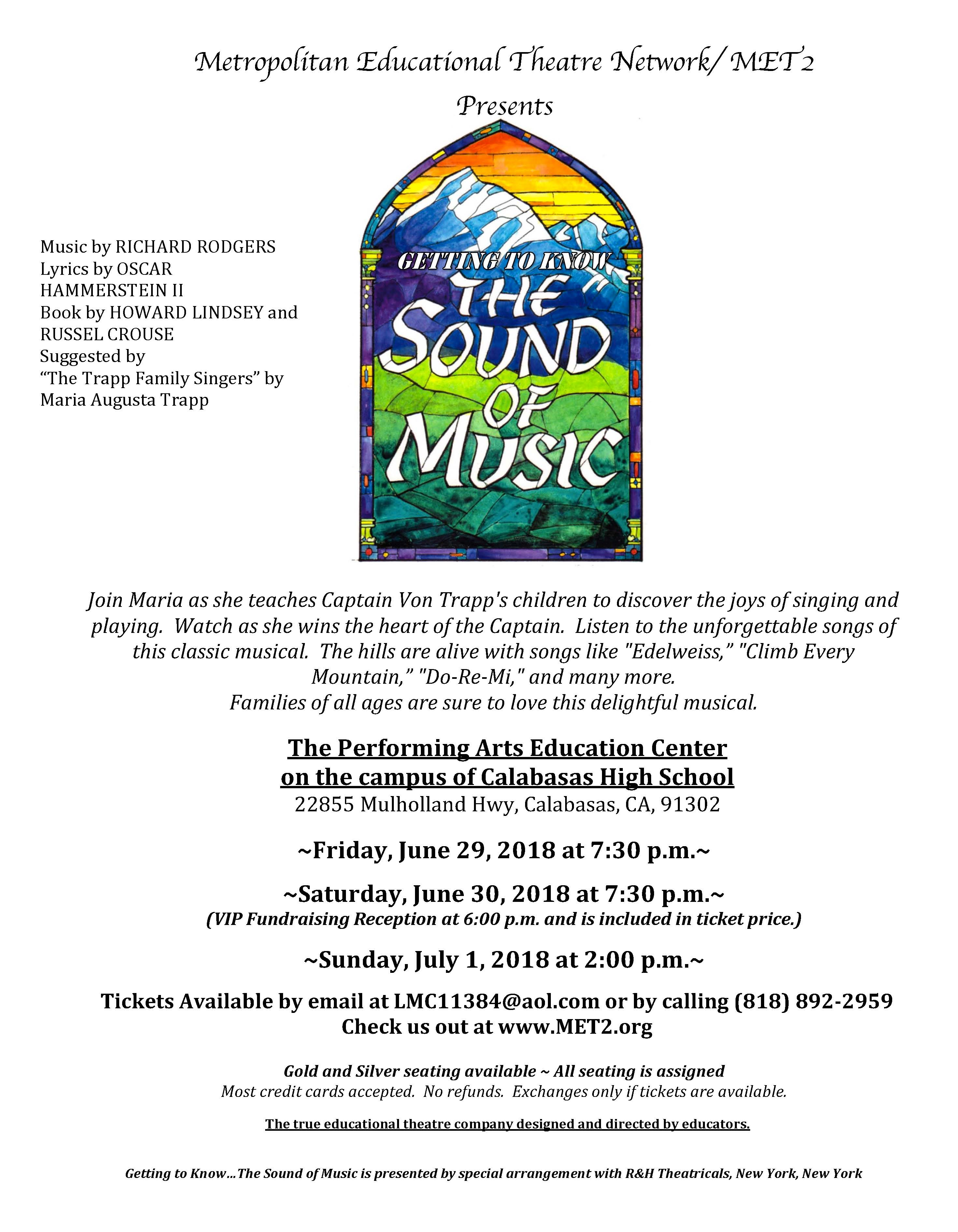 Sound of Music Show Flyer Valley 2018 FINAL